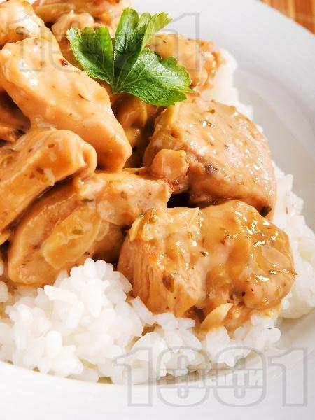 Пилешки хапки в уникален сос - снимка на рецептата